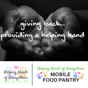 Please donate to helping hands of georgetown texas to serve our homeless and working poor families